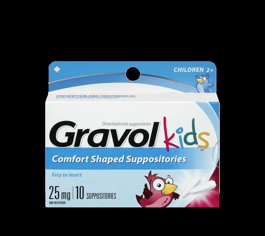 Gravol Kids Comfort Shaped Suppositories Gravol